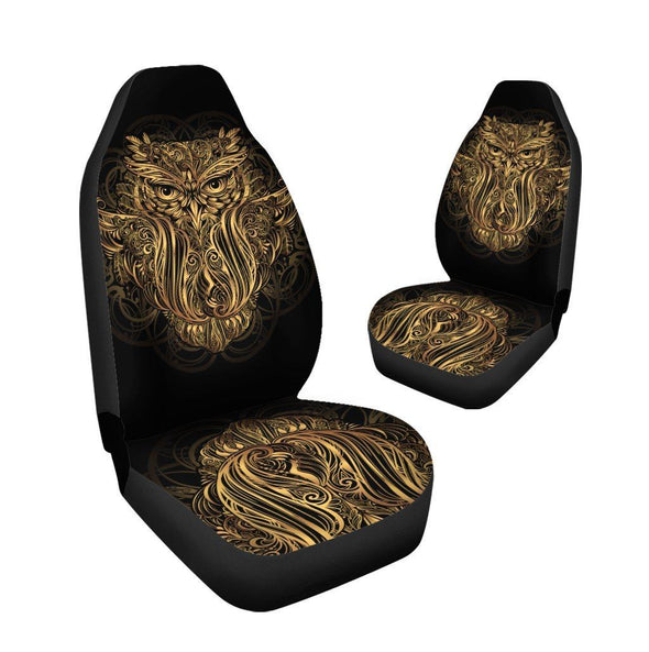 Gold Owl Car Seat Covers