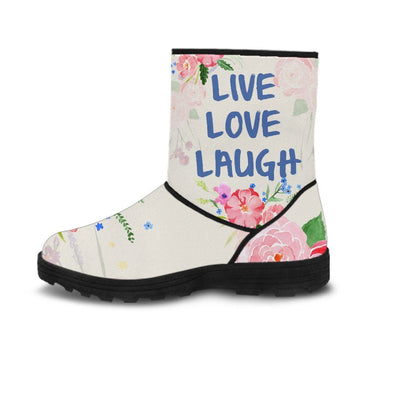 Live Love Laugh Fur Boots