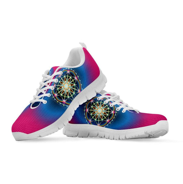 Womens Flower of Life Bright Sneakers.