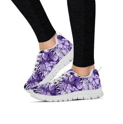Clearance Purple Lotus Dragonfly Sneakers