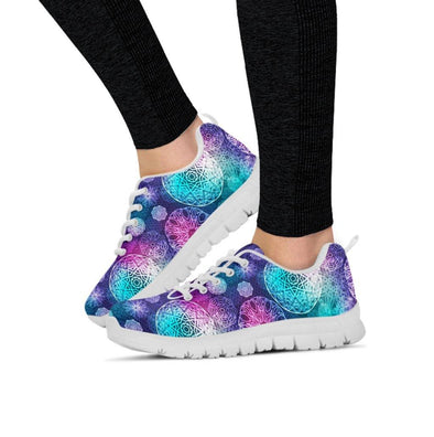 Colorful Fractal Mandala Sneakers