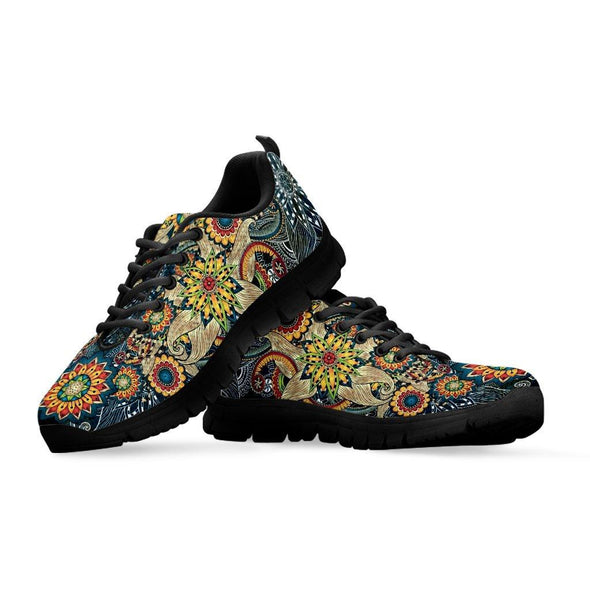 Limited Time 60% Yellow Flower Fractal Mandala Handcrafted Sneakers.