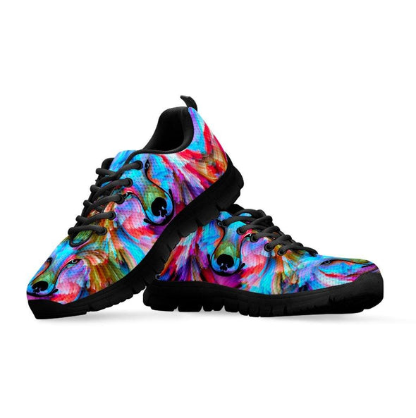 Colorful Wolf Mandala Sneakers
