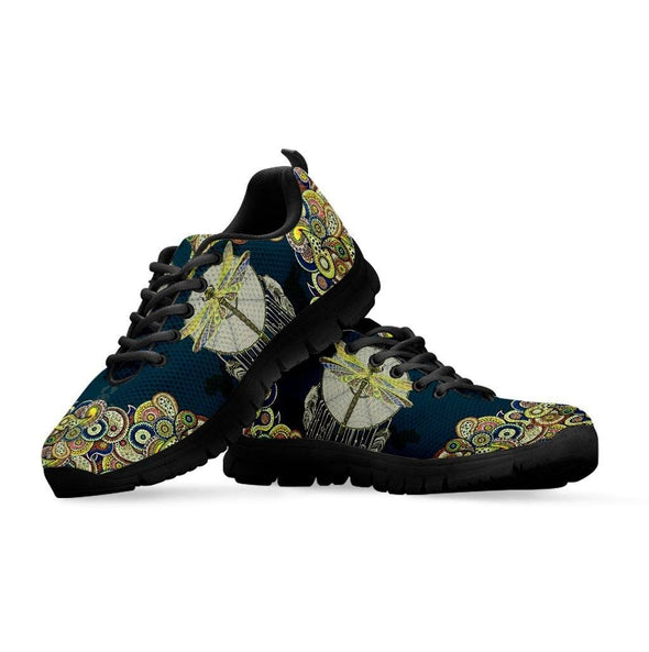 Green Paisley Dreamcatcher Dragonfly Sneakers