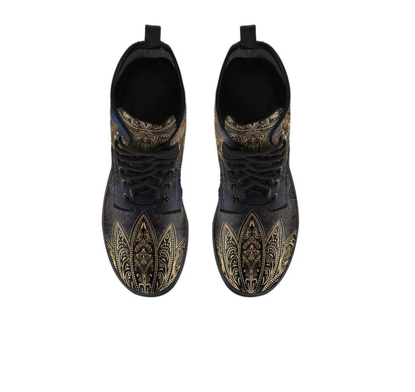 Clearance Gold Lotus Mandala Boots