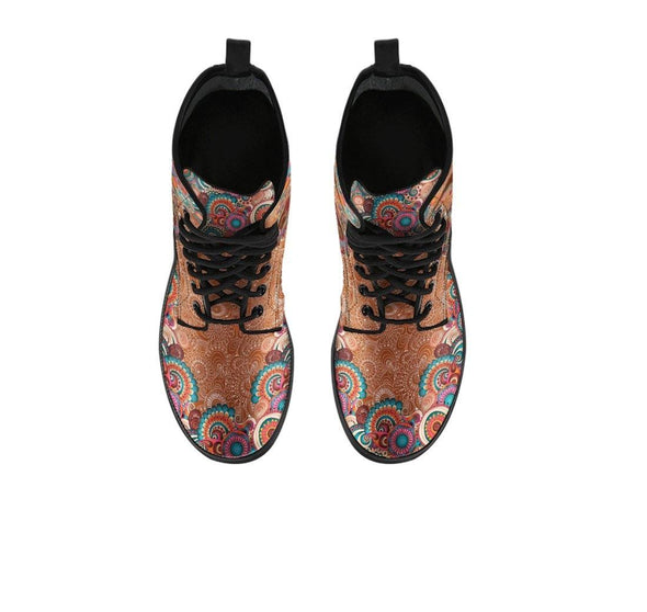 HandCrafted Paisley Sun and Moon Boots