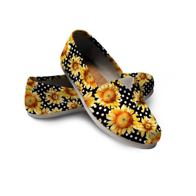 Casual Sunflower Polka Dot