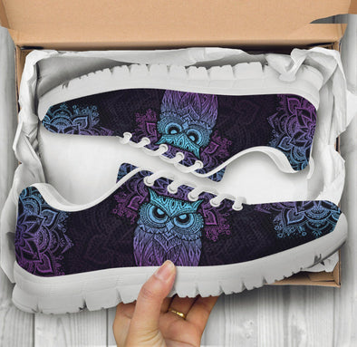 Purple Owl Sneakers