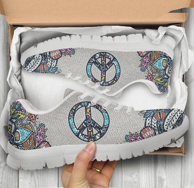 Limited Time 60% Grey Peace Paisley Handcrafted Sneakers