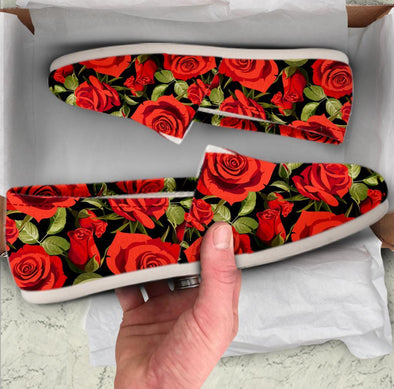 Casual Red Rose Design