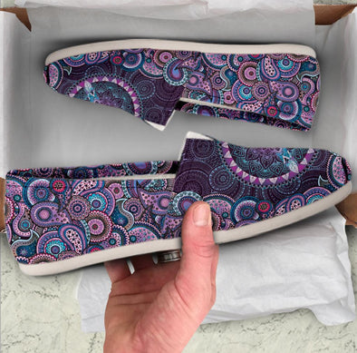 Casual Purple Paisley Mandala Peace