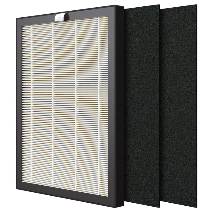 VEVA Premium HEPA Replacement Filter 1 Pack Including 2 Carbon Pre Filters Compatible with VEVA ProHEPA 9000 Air Purifier
