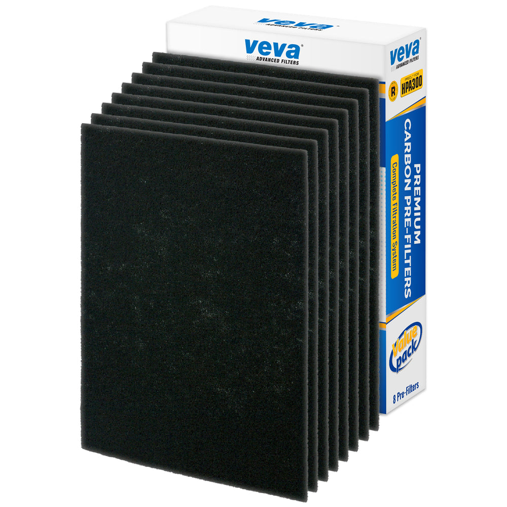 PRE VEVA VEVA Precut for HPA300 Premium Carbon Activated Pre Filters 8 Pack Compatible with HW Air Purifier. Precision Fit for Easy Installation Advanced Filters