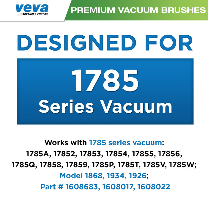 Vacuum Accessories VEVA VEVA Complete Vacuum Brush Set with 4 Pieces Total of 2 Multi Surface 1868, 1 Area Rug 1934, 1 Wood Floor 1926 Work with Bissell Crosswave 1785 Series Vacuums, Part # 1608683, 1608017, 1608022