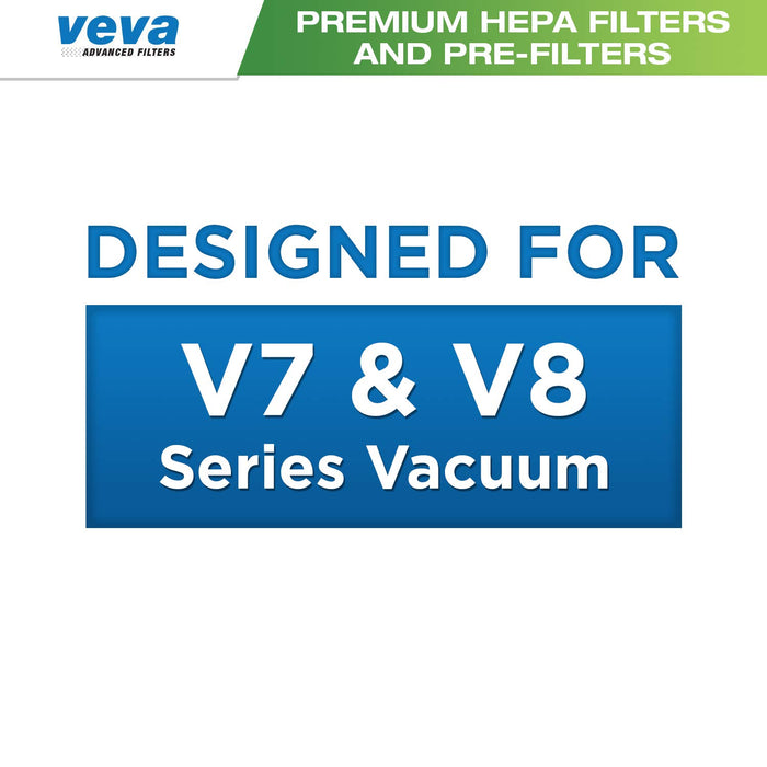 Vacuum Filters VEVA VEVA 6 Pack Premium Vacuum Filter Set with 3 Pre Filters & 3 HEPA Filters for Dyson V7 & V8 Absolute & Animal Cordless Vacuums, Part # 965661 & 967478