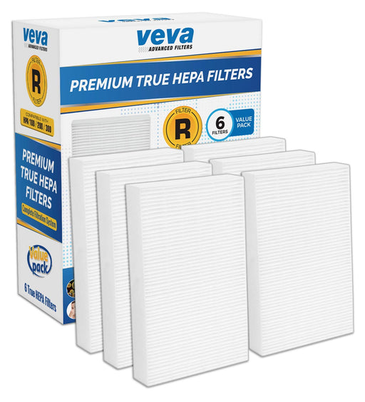 HEPA VEVA VEVA Complete 6 Premium True HEPA Type R Replacement Filter Pack HRF-R3 HRF-R2 HRF-R1 for HW Air Purifier HPA090, HPA100, HPA200, HPA250 & HPA300