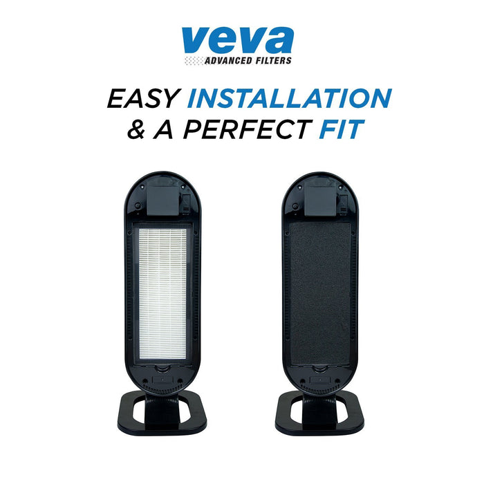 HEPA VEVA VEVA 8000 Elite Pro Series Air Purifier Replacement Value Pack - 2 True HEPA Filter & 8 Premium Activated Carbon Pre Filters (2+ Year Supply)
