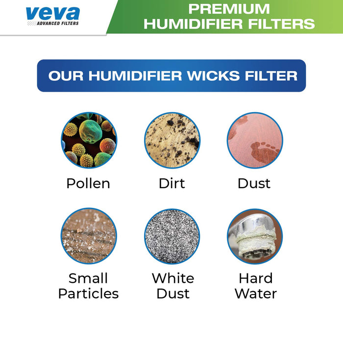Humidifier Filter VEVA VEVA 6 Pack Premium Humidifier Filters Replacement for Protec, Vicks, Kaz Filter WF2 and V3500, V3100 & 3020 Cool Mist Humidifiers