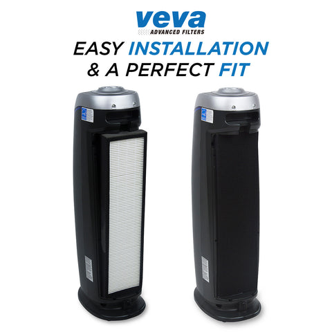 true hepa replacement filter 2 pack including 6 carbon pre filters for ac5000 series germ guardian