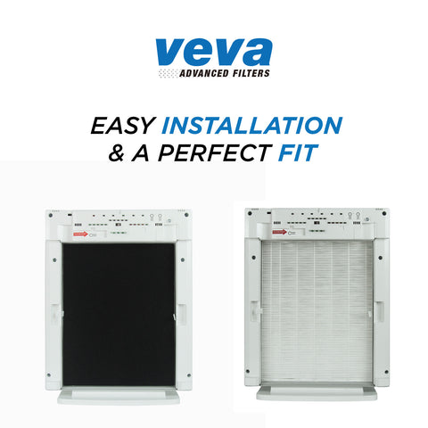 true hepa filter with 6 activated carbon pre filters compatible with winix size 21 and