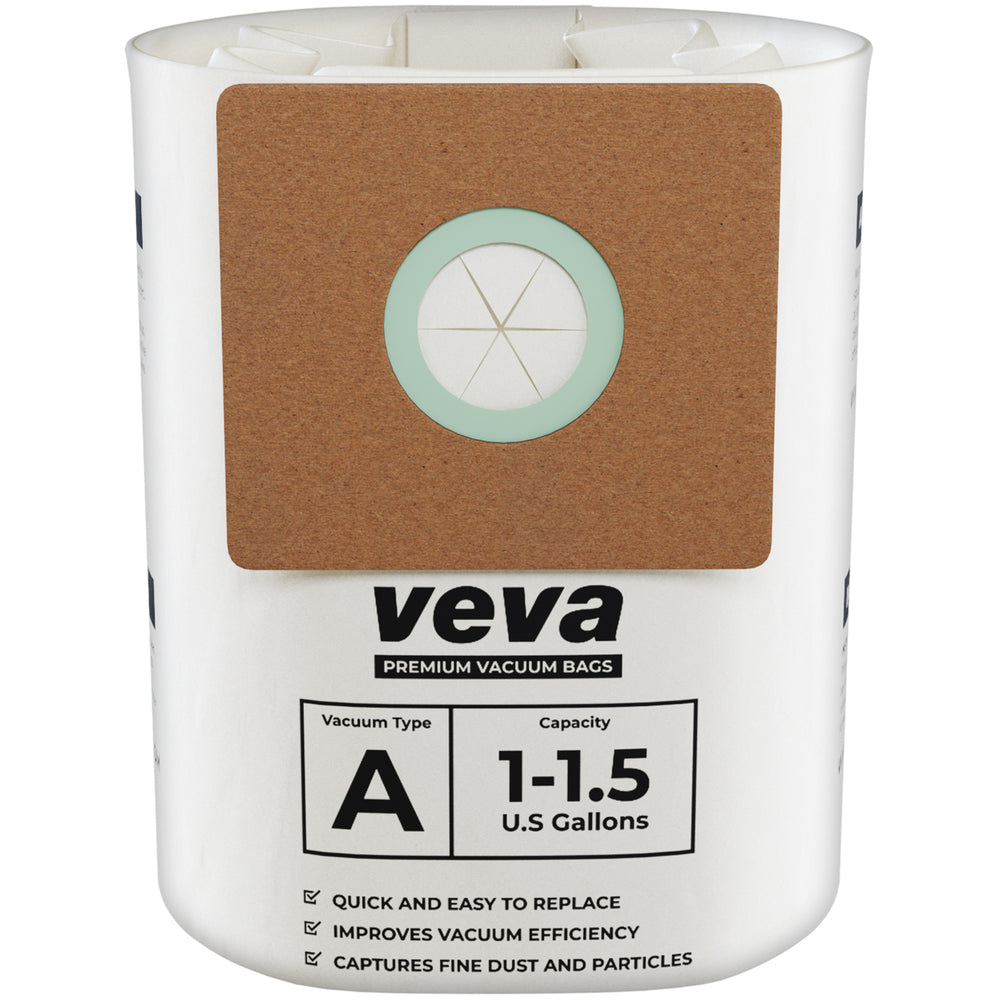 Vacuum Bags VEVA VEVA 30 Pack Premium Vacuum Filter Bags Type A 9066700 Compatible with Shop Vac 1.5 Gallon Vacuum and 1 Gallon Micro Vacs, Part # SV 90667