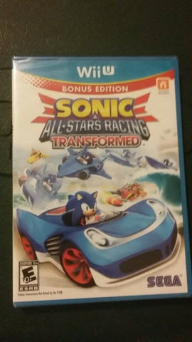 Sonic & All-Star Racing Transformed Bonus Edition (Wii U) Brand new Sealed!