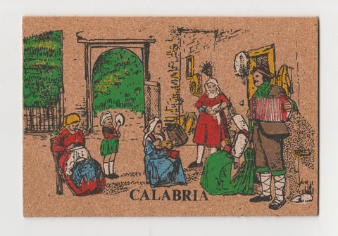 Set of 5 Vintage Italian Cork Postcard - Unused