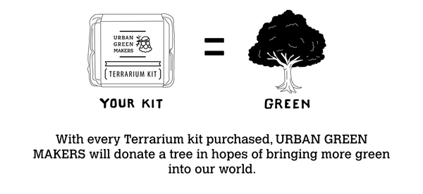 Your kit equals one plant. We want to make the world a greener place.