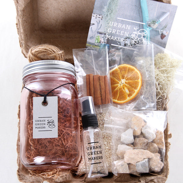 Kit #5 - Vintage Glass Jar Terrarium - URBAN GREEN MAKERS