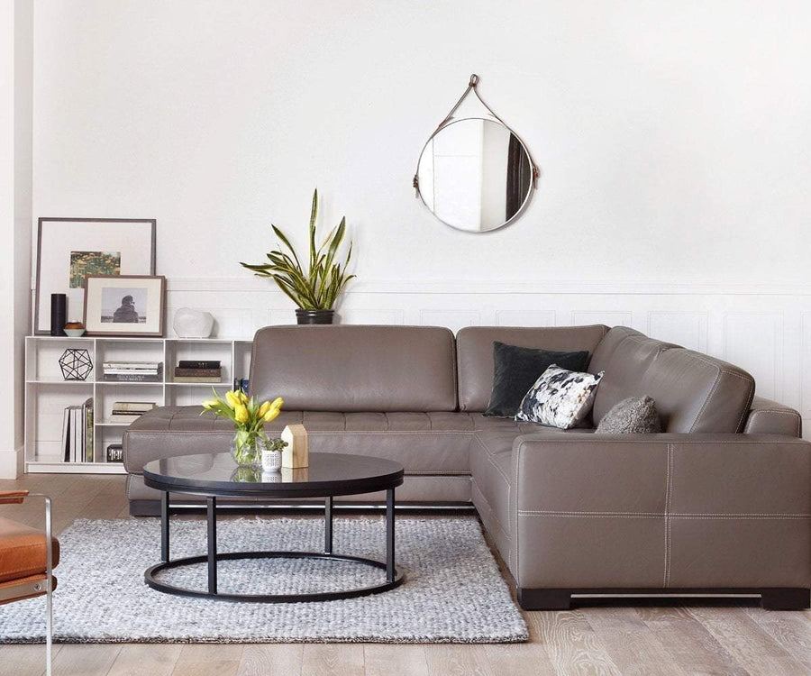 Andreas Leather Left Sectional TAUPE Z76/22 - Scandinavian Designs