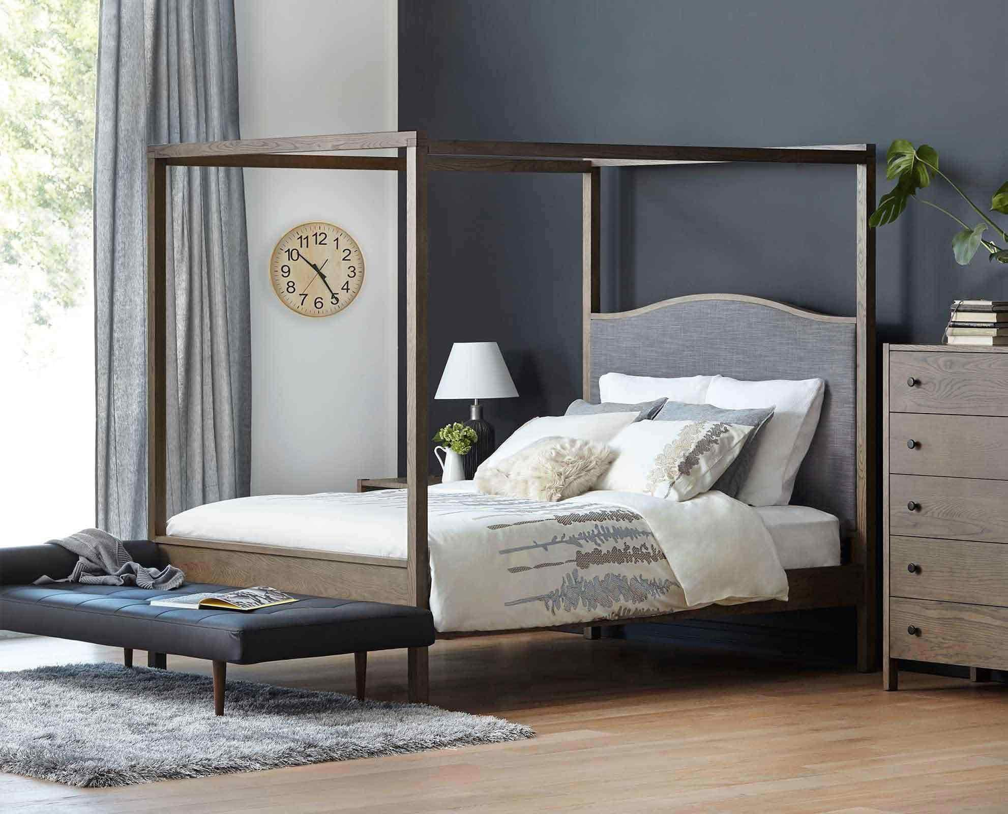 Contemporary Canopy Beds petra canopy bed – scandis