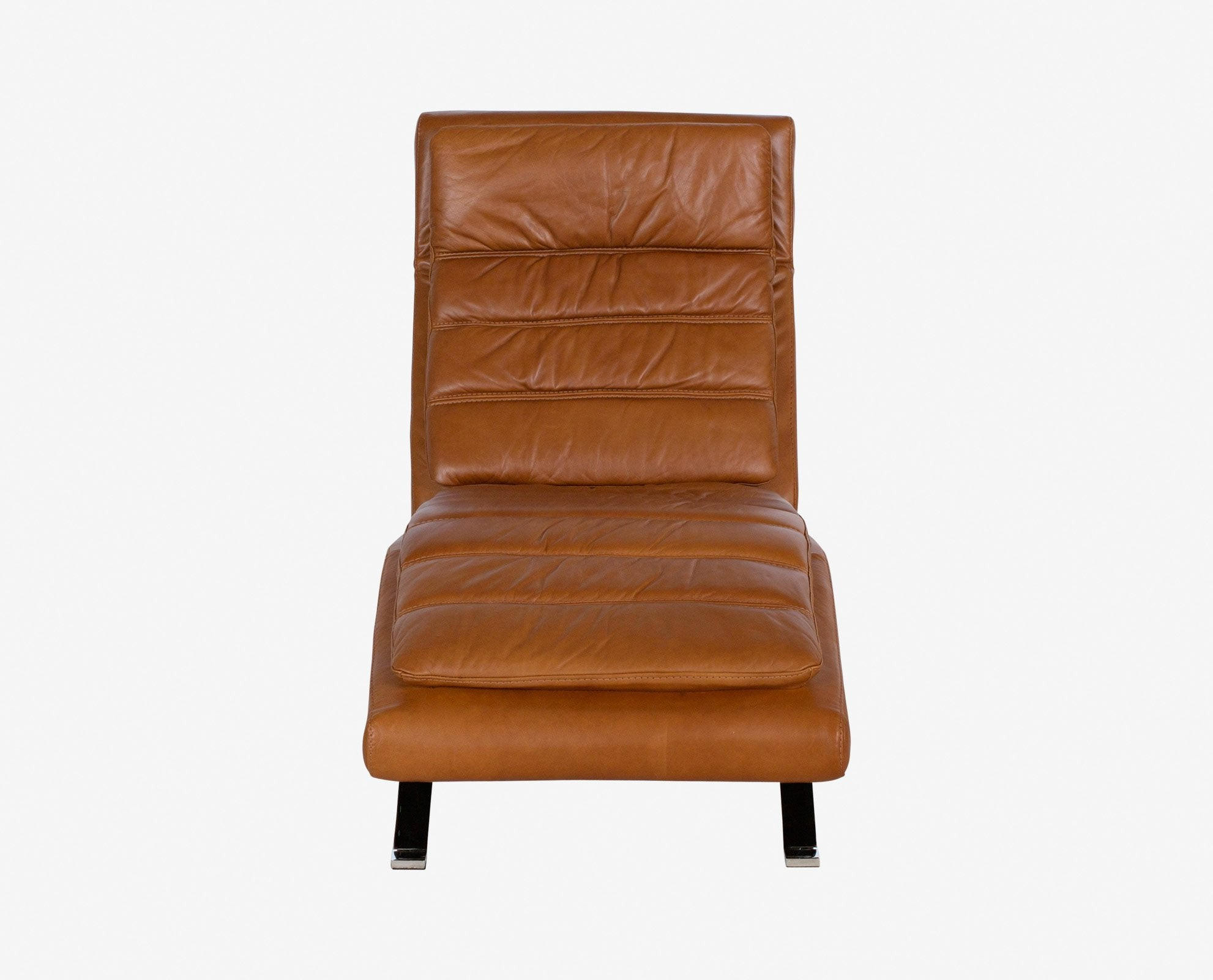 Scandinavian design luxury leather recliner