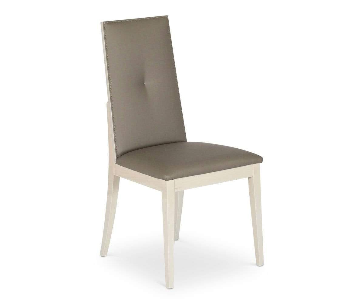 Contemporary contrast plush seat dining chair