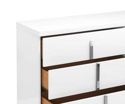 Palermo Double Dresser White High Gloss - Scandinavian Designs
