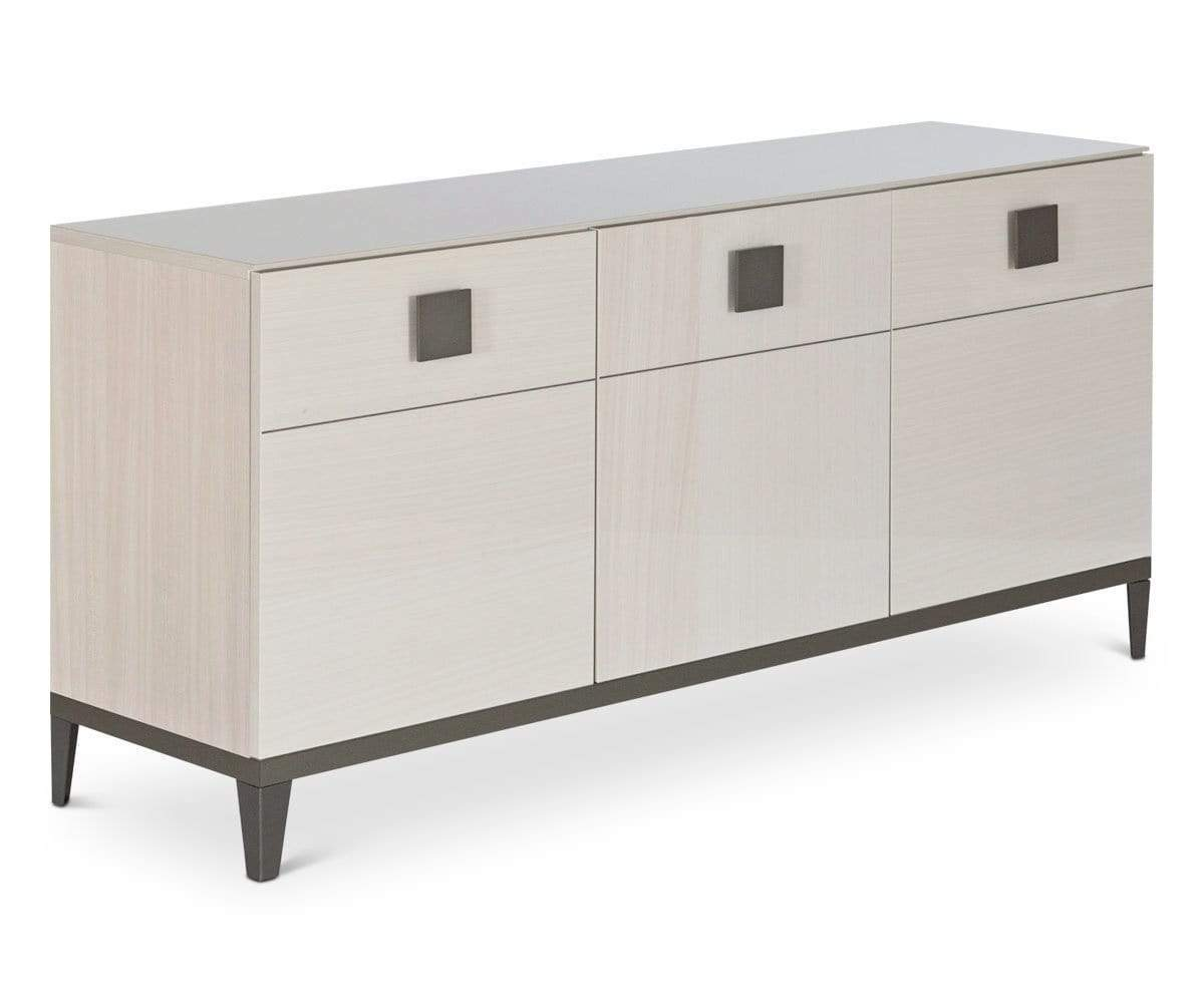Glossy wood sideboard dining storage