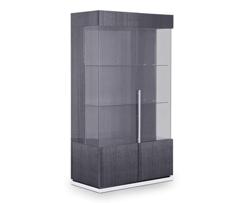 Minimalist contemporary Scandinavian glass cabinet