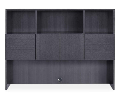 Mondiana Credenza Hutch High Gloss Grey - Scandinavian Designs