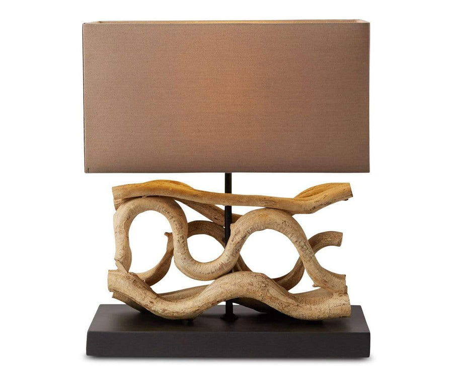 Mandal Lamp with Brown Shade - Scandinavian Designs