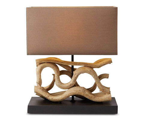 Mandal Lamp with Brown Shade