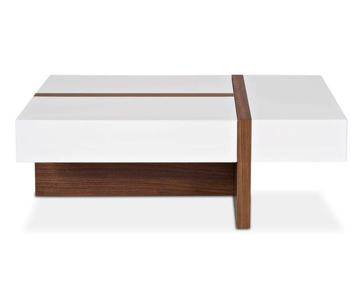 Stylish contemporary glossy coffee table