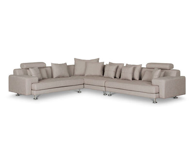Cepella Right Seated Sectional LIGHT BROWN DORMA-41 - Scandinavian Designs