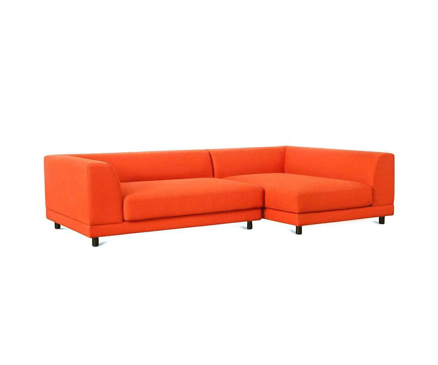 Tysse 2pc Right Sectional Orange VLP418-19 - Scandinavian Designs