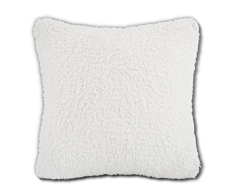 Faux sheepskin texture pillow