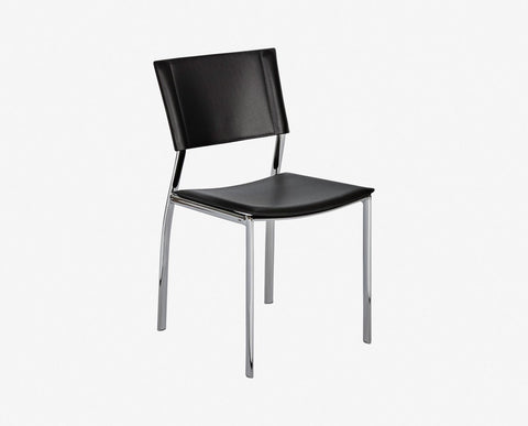 Contemporary black nordic style chair