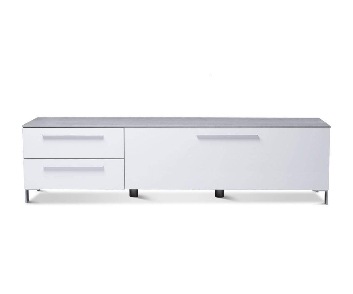 "Danne 65"" Media Unit White - Scandinavian Designs"
