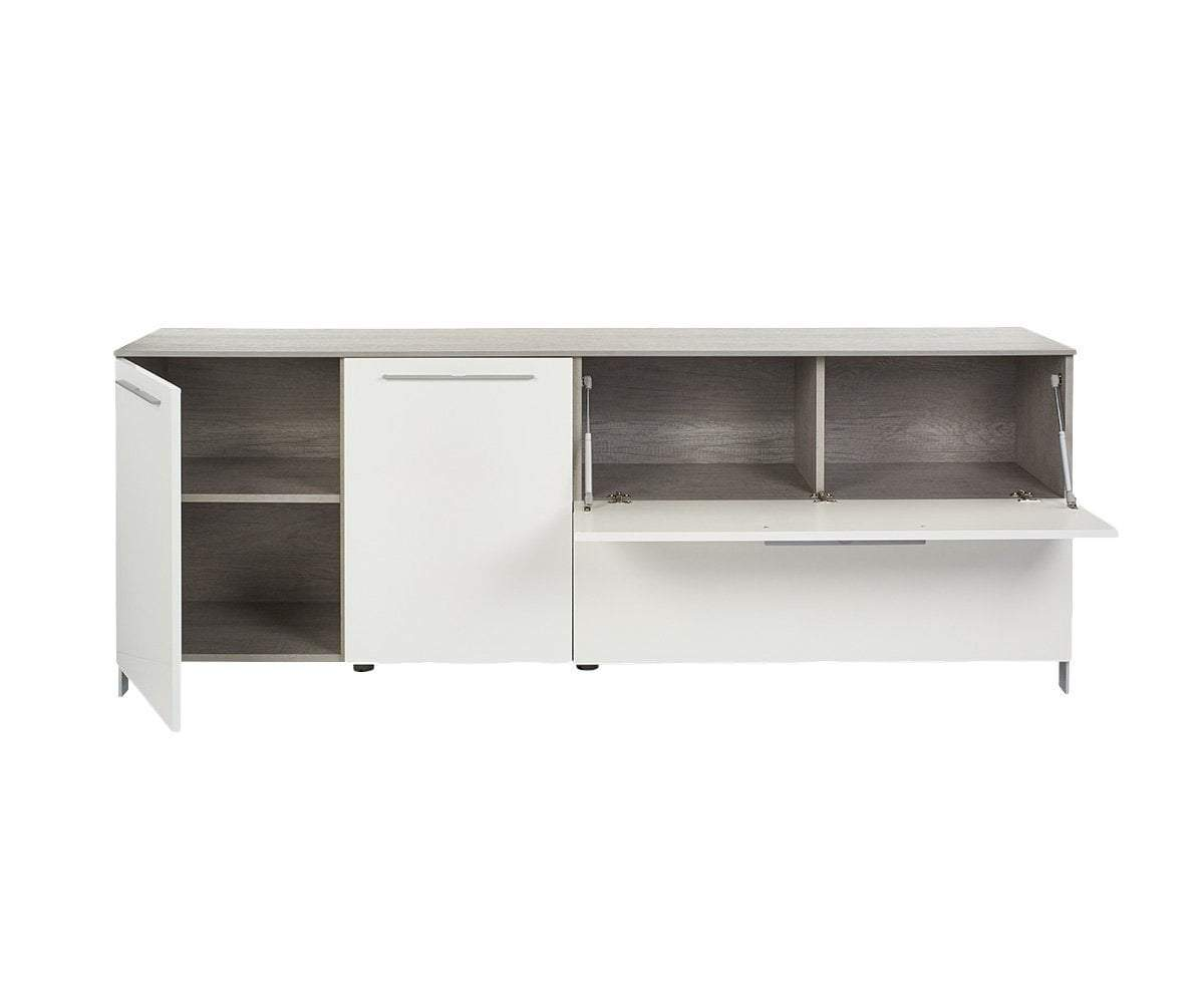 "Danne 82"" Media Unit Cement/White - Scandinavian Designs"