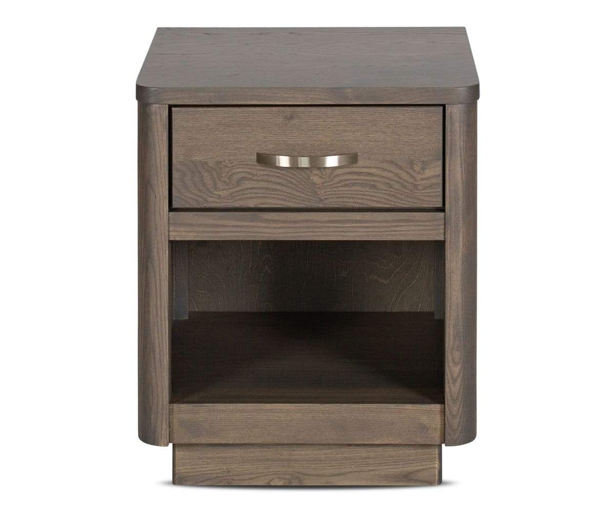 Slate stain natural wood nightstand