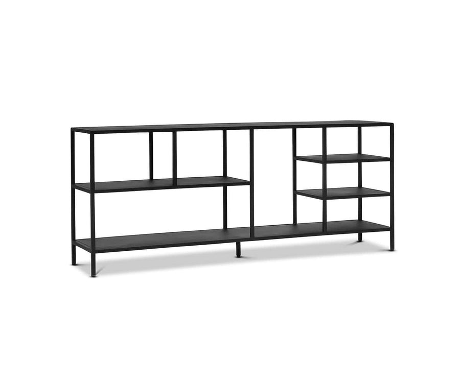 "Heroy 72"" Bookcase/Media Stand Black - Scandinavian Designs"