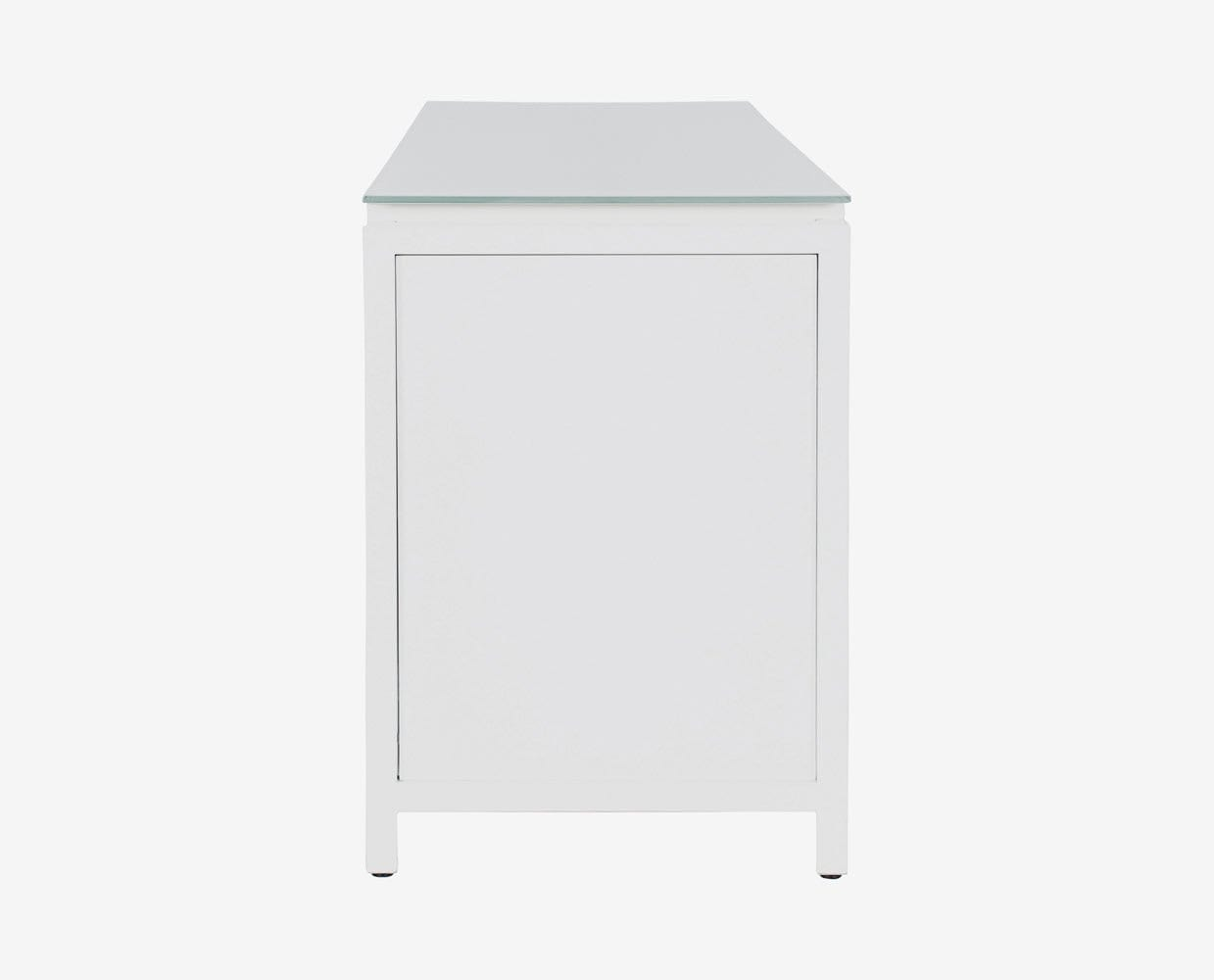 Compact functional minimalist modern office credenza