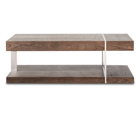 Contemporary wood rustic danish style coffee table